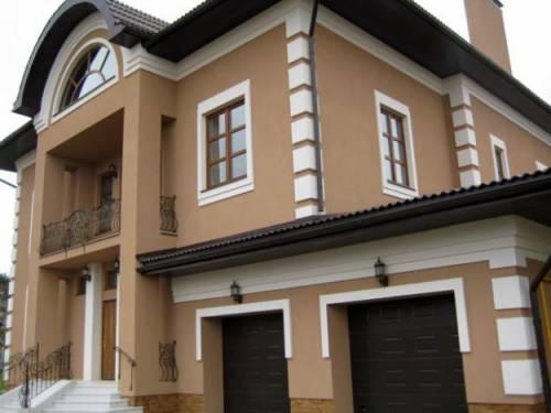 Наружная отделка фасада дома